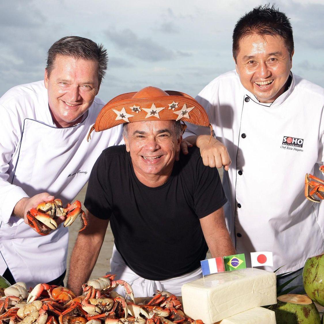 Fernando Barroso (no meio), ao lado de Bernard Twardy e Élcio Nagano (Foto: Reprodução)